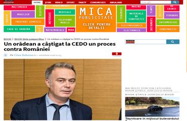 După 10 ani de aşteptări, un orădean a câştigat la CEDO un proces contra României.