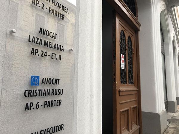 Avocat Oradea - Cabinet Rusu Cristian fotografie in curtea interioara 2